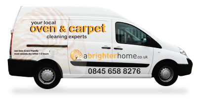 One of the A Brighter Home Carpet Cleaning Vans