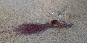 wine spill on rug