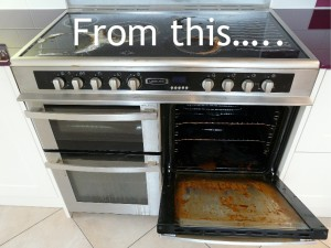 oven before oven cleaning